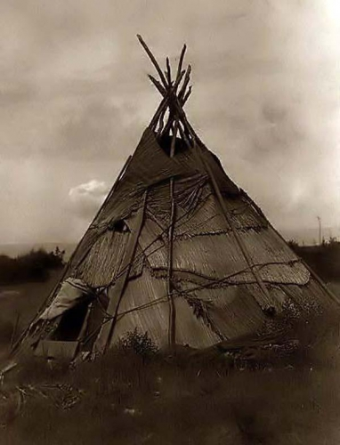Edward S. Curtis Tepee made of Grass 1910 washington state.jpg