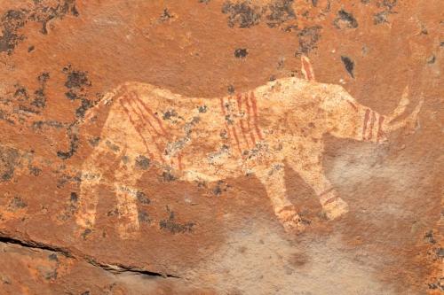 Peinture rupestre san (bushmen)montagnes du Drakensberg Afrique du sud.jpg