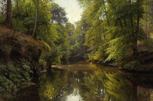 Peder Mørk Mønsted Wooded River Landscape 1913.jpg