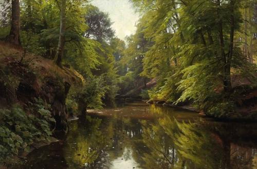 Peder Mørk Mønsted Wooded River Landscape 1913.jpg
