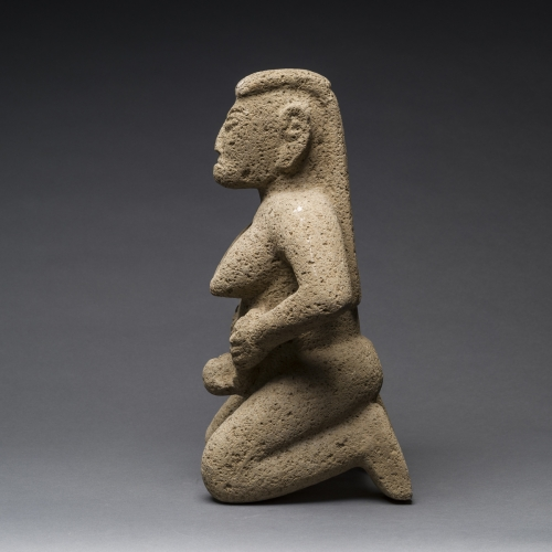 Unknown Pre-Columbian, 'Basalt Figure of a Woman Giving Birth' 0,.jpg