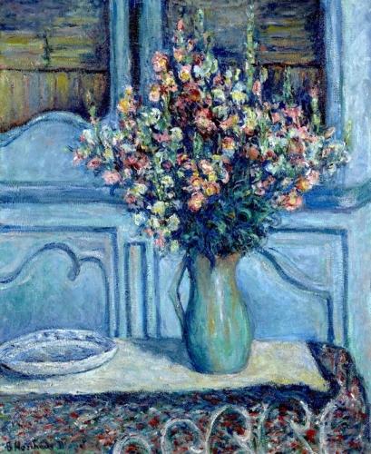 Blanche Hoschedé-Monet - intérieur à Giverny 1922.jpg
