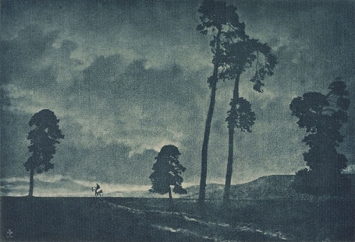 Theodor and Oscar Hofmeister  The Solitary Horseman photogavure 1904.jpg