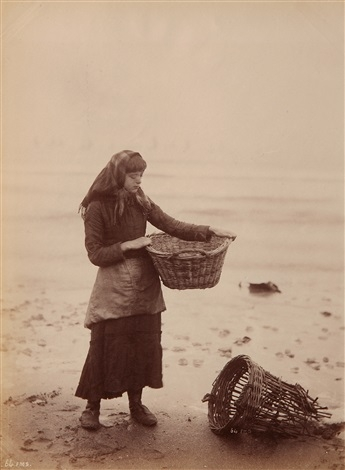 Frank Meadow Sutcliffe - Whitby Fisher People Lassie 1890's.jpg