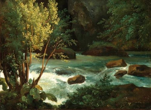 Théodore ROUSSEAU (1812-1867) Torrent en Auvergne près de Royat.jpg