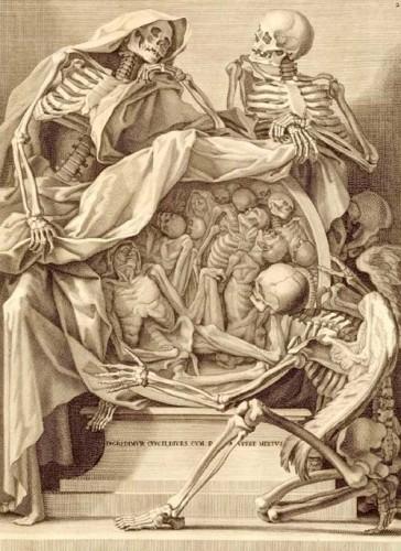 Bernardino Genga - Charles Errand, Anatomia, Rome 1691, pre-frontispiece engraving.jpg