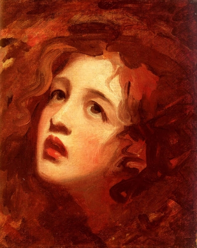 George Romney (1734-1802), Portrait Study Of Emma Hamilton As Miranda. .jpg