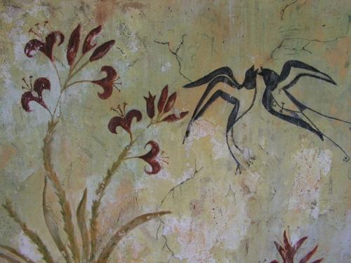 Fresque du printemps, minoénne Akrotiri Santorin Grèce.jpg