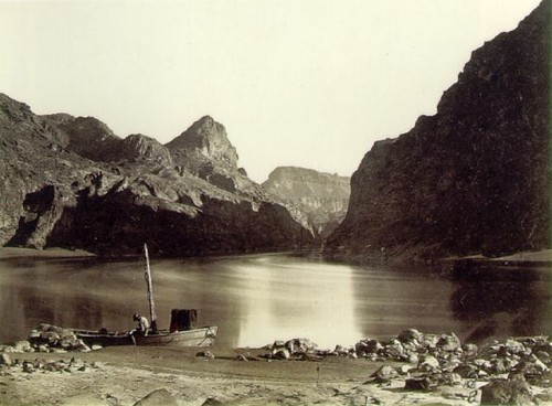 TIMOTHY H. O'SULLIVAN. Black Canyon, Colorado River, from Camp 8, Looking above, 1871.jpg