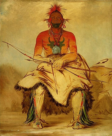 George Catlin buffalo-bull-a-grand-pawnee-warrior-1832.jpg