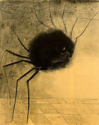 Odilon redon l'araignée qui sourit 1881.jpg