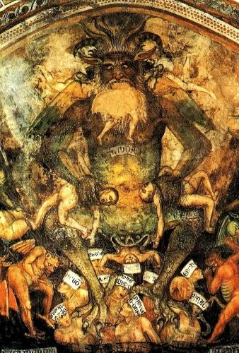 Taddeo di Bartolo Lucifer le jugement dernier détail fresque.jpg