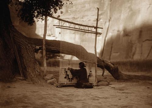 Edward S Curtis Navajo Blanket Weaver..jpg