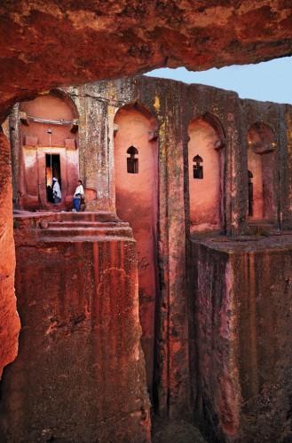 Lalibela, Ethiopia's rock-hewn Bet Gabriel-Rufael church.jpg
