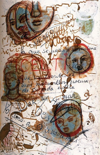 Frida Kahlo A page of her diary 1953.jpg