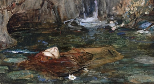John William Waterhouse - Study_for_Nymphs_Finding_the_Head_of_Orpheus.jpg