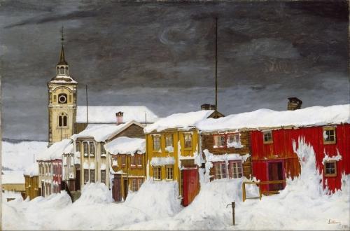 Harald Sohlberg  Street in Røros in Winter.jpg
