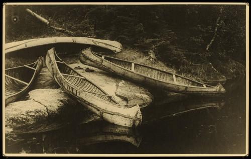Roland W. Reed Ojibway Birchbark canoes 1907.jpg