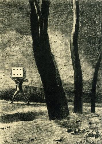 Odilon Redon. The Gambler. 1879..jpg