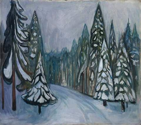 Edvard Munch (1863-1944, Norway) New Snow, 1900-01.jpg