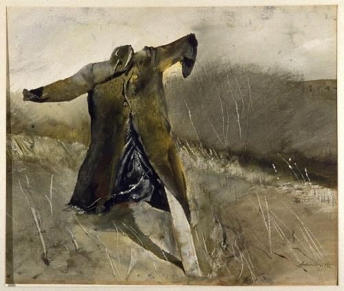 Andrew Wyeth Benny's Scarecrow (Jim Loper's coat 1955.jpg