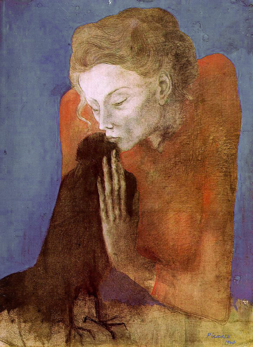Picasso Woman with a crow 1903.png