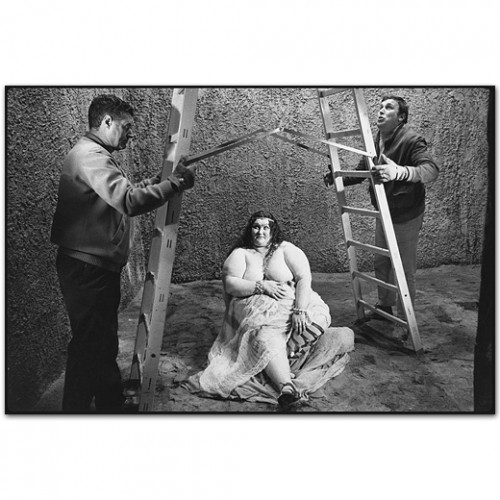 Mary Ellen Mark An extra and crew members on the set of Fellini's Satyricon, Rome, Italy, 1969.jpg