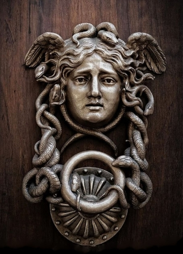 Medusa Door Knocker. the Ministero della Difesa. Italy.         .jpg
