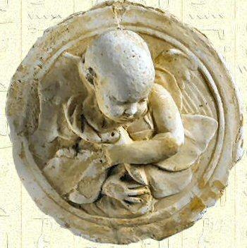 Médaillon circulaire en plâtre - Begram - Bactriane.jpg