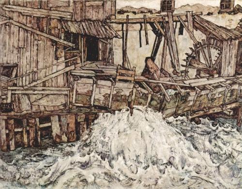 Egon Schiele_(Old Mill), 1916.jpg