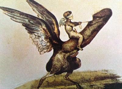 Eugène le Poitevin, Les Diableries Érotiques Eros riding Phallus, France, 1830s.jpg