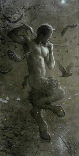 Todd Yeager Taylor  Pan's moonlight dance with Bats 2011.jpg