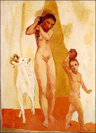 Picasso une fille à la chèvre 1906.jpg