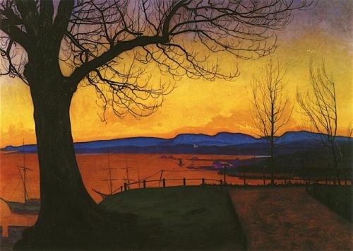 Harald Sohlberg - Evening, Akershus 1913.jpg
