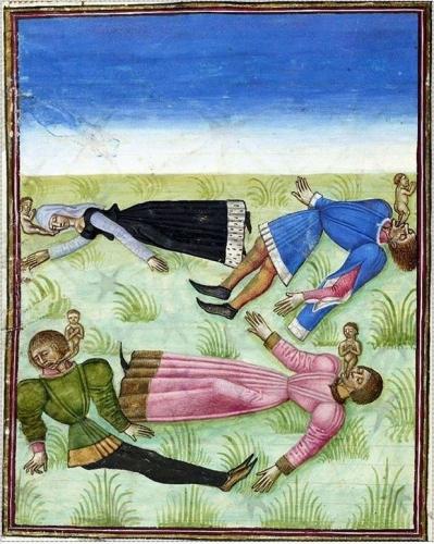 Livre de la Vigne nostre Seigneur - MS. Douce 134  13e signe de l'Apocalypse XVe s..jpg