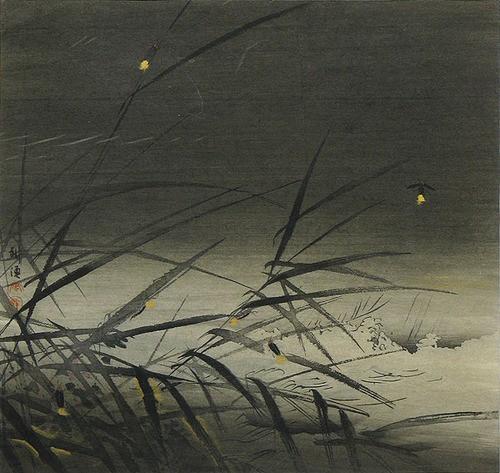 Kōgyo Tsukioka Matsuo Batso Shaking the grave  My weeping voice  Autumn wind..jpg