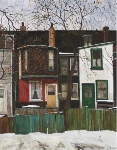 Albert Franck Backyards of Houses on a Street in Toronto1965.jpg