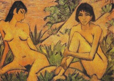 Otto  Mueller – Deux jeunes filles nues dans un paysage – 1924.jpg