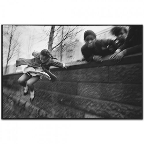Mary Ellen Mark Girl Jumping over a Wall, Central Park, Manhattan, New York, USA, 1967 .jpg
