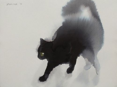 Endré Penovac Watercolor And Ink Cats3_500.jpg