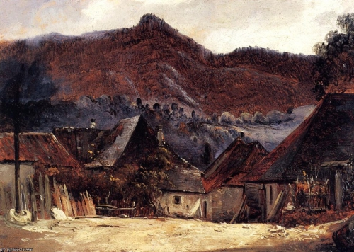 Théodore Rousseau, cottages_in_the_jura,_1834_,.jpg