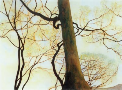 léon spilliaert 3_Tronc de hetre et branches au printemps (1930).jpg