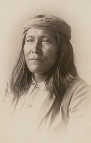 Chatto (aka Flat Nose, aka Alfred Chatto), the husband of Be-gis-cley-aihn (aka Helen Chatto) - Chiricahua Apache - 1888.jpg