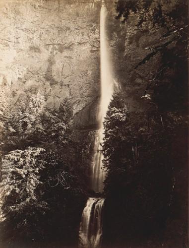 Carleton E. Watkins Multnomah Falls Cascade Columbia River 1867.jpg