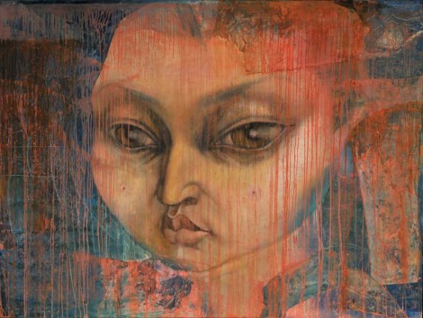 dorjderem davaa ten years old wife 150x200cm-canvas-oil.jpg