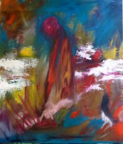 Ana Minsky Le ciel renversé, huile sur toile.jpg