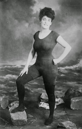 Annette Kellerman posing in a swimsuit that got her arrested for indecency, ca. 1907.).jpg