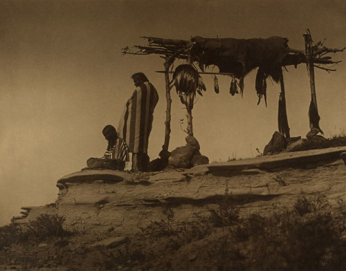Roland W. Reed Piegan Men with Burial Scaffold 1912 .jpg