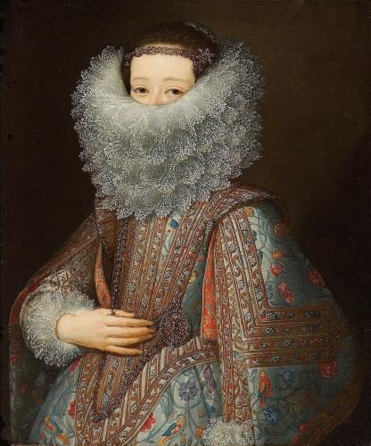 Portrait of Eleonora Gonzaga (1598–1655), half-length, as a Bride. Giusto Sutterman. Flemish 1597-1681. .jpg