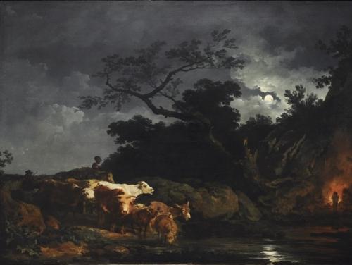 Philippe-Jacques de Loutherbourg .paysage au clair de lune 1777.jpg
